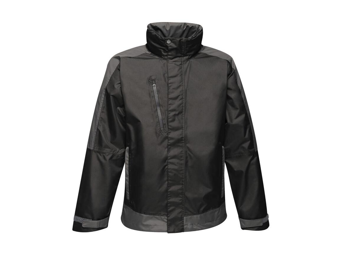 Regatta Contrast Shell Jacket, Black/Seal Grey, S bedrucken, Art.-Nr. 883171513