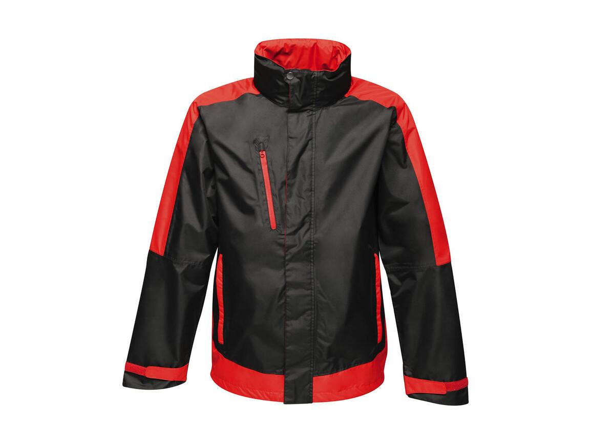 Regatta Contrast Shell Jacket, Black/Classic Red, XL bedrucken, Art.-Nr. 883171576