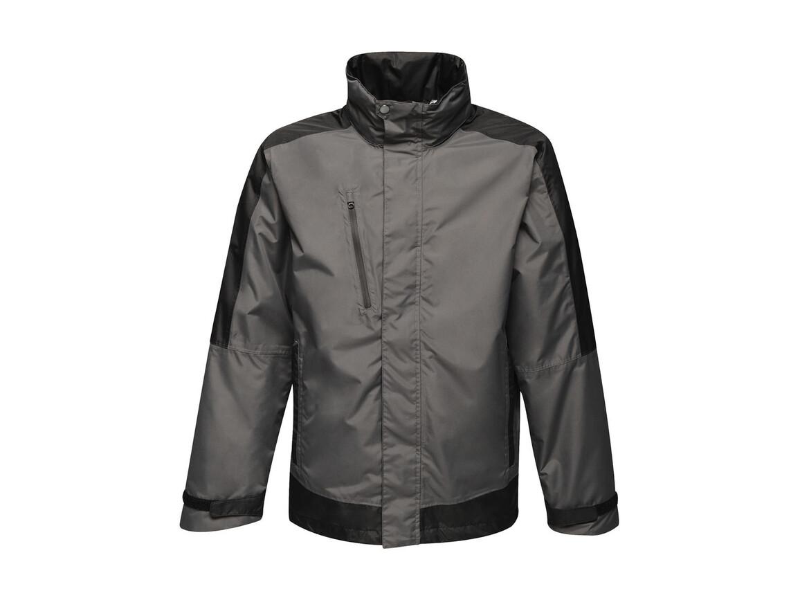 Regatta Contrast Shell Jacket, Seal Grey/Black, XL bedrucken, Art.-Nr. 883171586