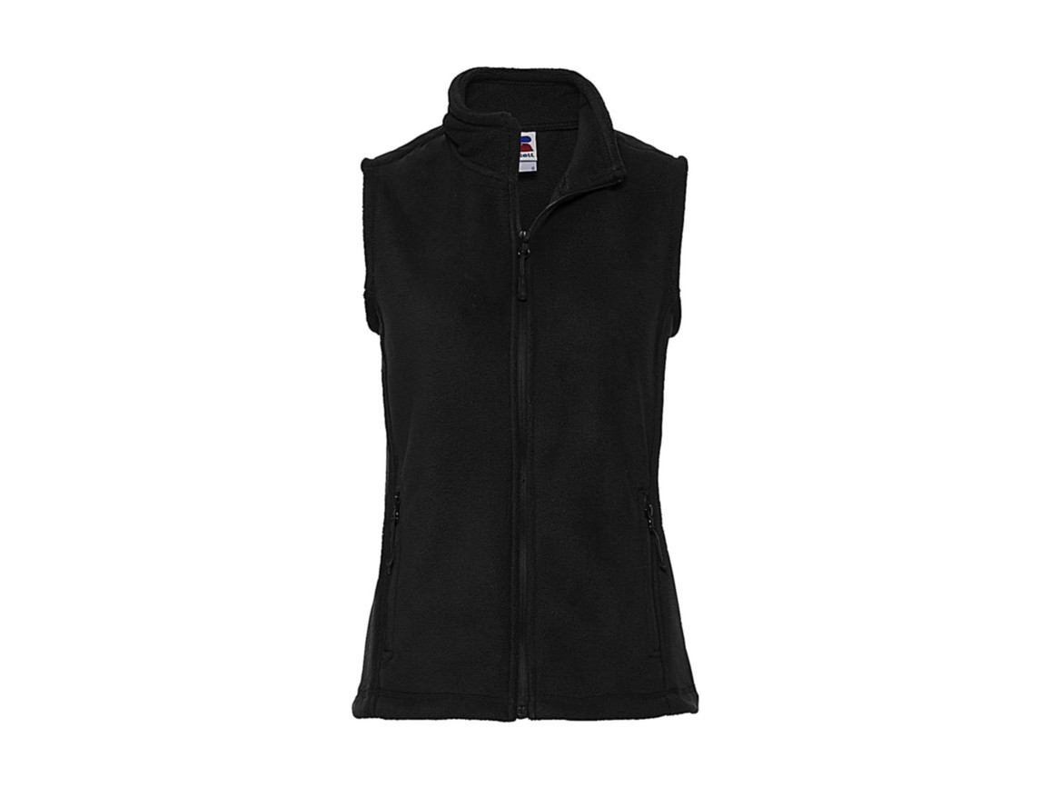 Russell Europe Ladies` Gilet Outdoor Fleece, Black, M bedrucken, Art.-Nr. 884001014
