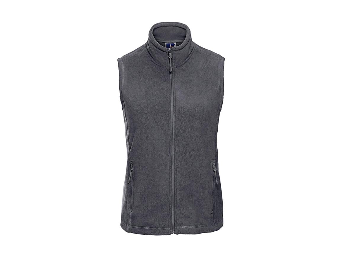 Russell Europe Ladies` Gilet Outdoor Fleece, Convoy Grey, XL bedrucken, Art.-Nr. 884001276
