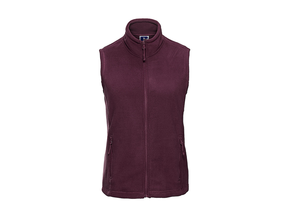 Russell Europe Ladies` Gilet Outdoor Fleece, Burgundy, XS bedrucken, Art.-Nr. 884004482