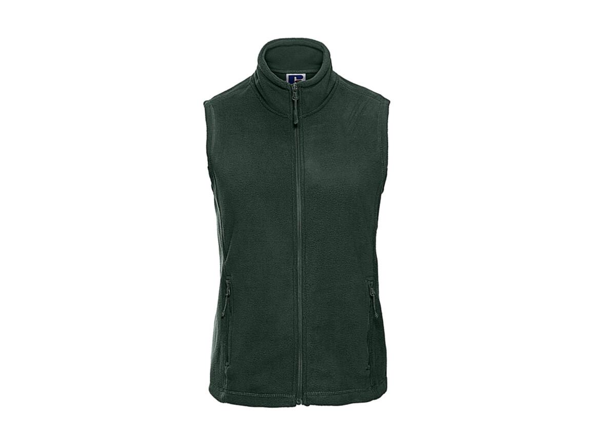 Russell Europe Ladies` Gilet Outdoor Fleece, Bottle Green, S bedrucken, Art.-Nr. 884005403