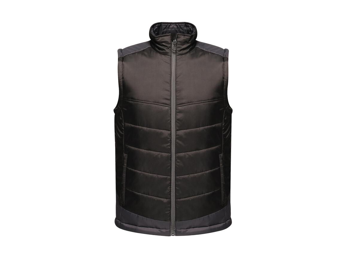 Regatta Contrast Insulated Bodywarmer, Black/Seal Grey, 2XL bedrucken, Art.-Nr. 884171517