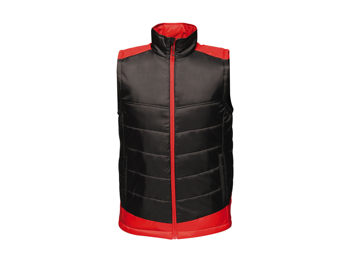 Regatta Contrast Insulated Bodywarmer, Black/Classic Red, M bedrucken, Art.-Nr. 884171574