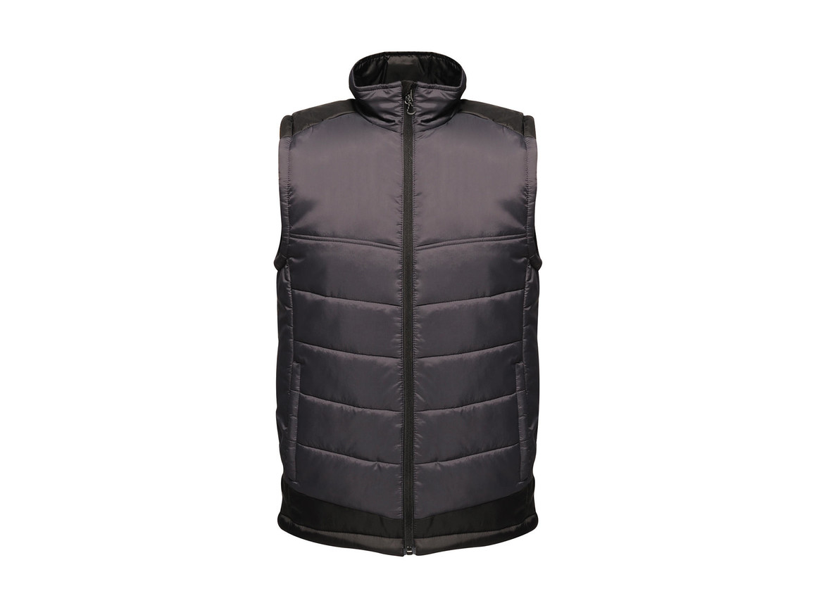 Regatta Contrast Insulated Bodywarmer, Seal Grey/Black, 4XL bedrucken, Art.-Nr. 884171589