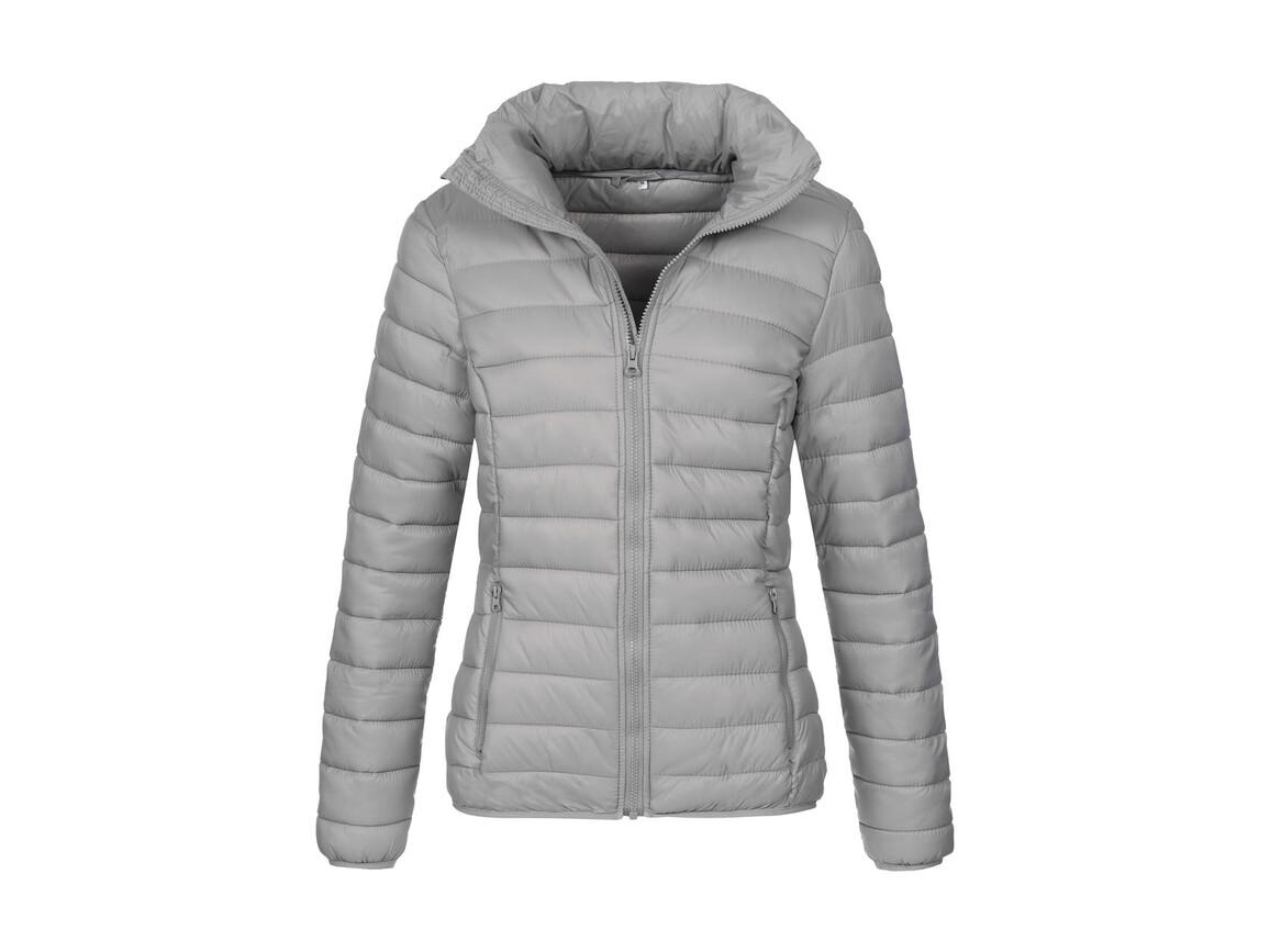 Stedman Active Padded Jacket Women, Light Grey, L bedrucken, Art.-Nr. 894051325