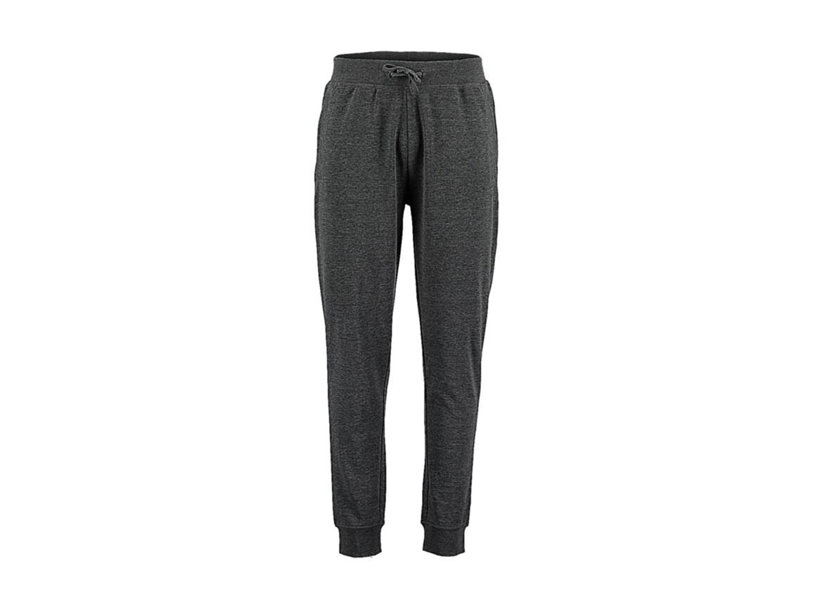 Kustom Kit Slim Fit Sweat Pant, Dark Grey Melange, M bedrucken, Art.-Nr. 900111194