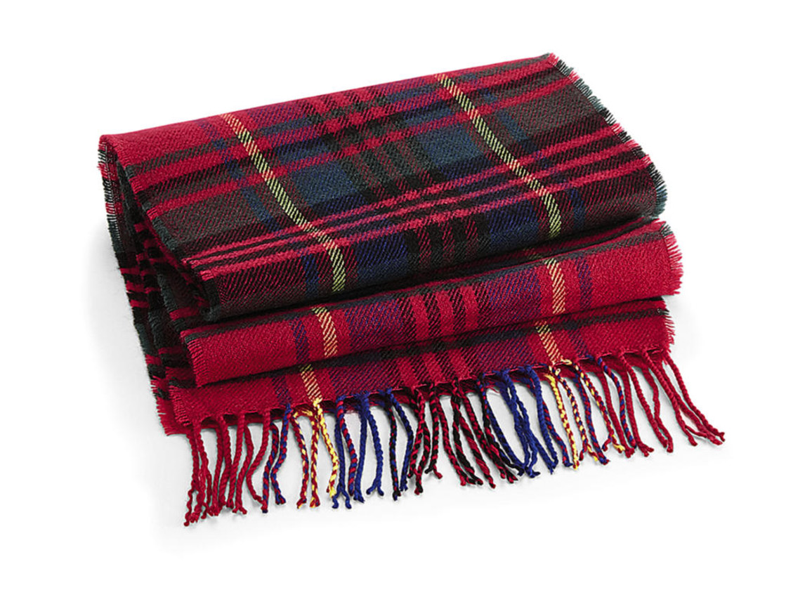 Beechfield Classic Check Scarf, Red Check, One Size bedrucken, Art.-Nr. 900691080