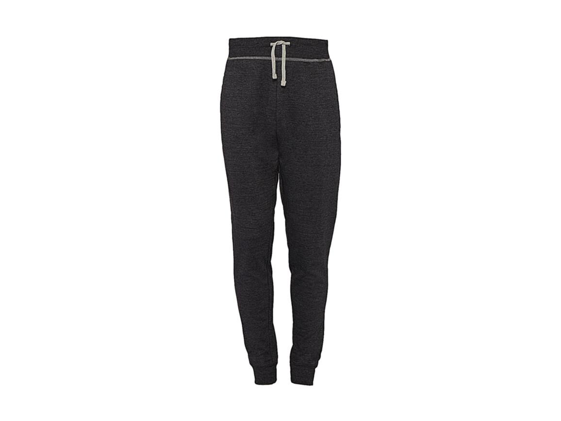 nakedshirt Alex Men`s Sweatpants, Charcoal/Warm Grey Melange, S bedrucken, Art.-Nr. 900851583