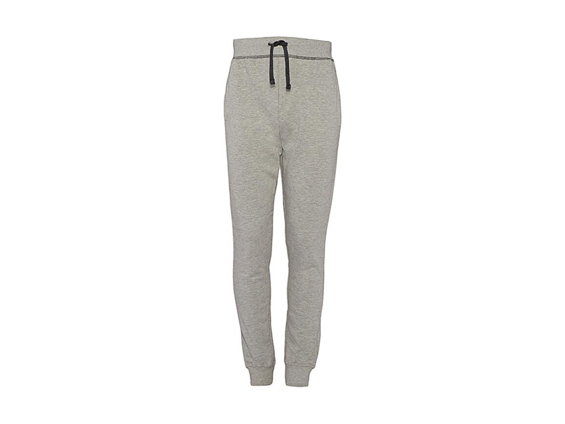 nakedshirt Alex Men`s Sweatpants, Warm Grey Melange/Charcoal, S bedrucken, Art.-Nr. 900851623