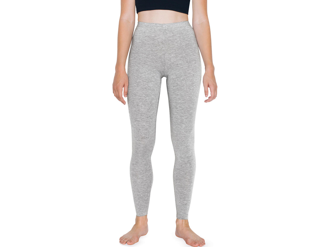 American Apparel Women`s Jersey Legging, Heather Grey, XS bedrucken, Art.-Nr. 901071232