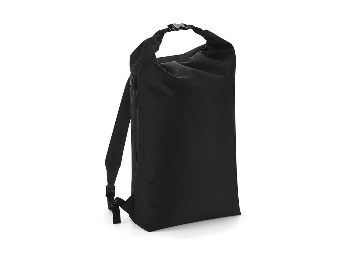 Bag Base Icon Roll-Top Backpack, Black, One Size bedrucken, Art.-Nr. 901291010