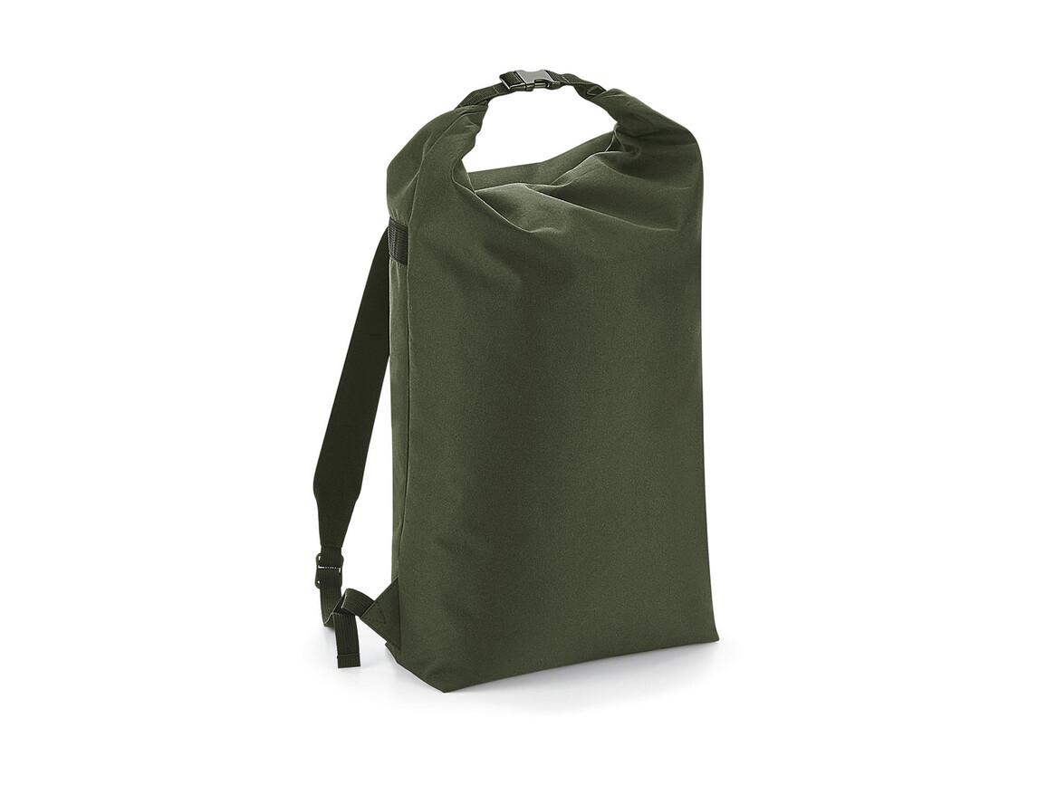 Bag Base Icon Roll-Top Backpack, Olive Green, One Size bedrucken, Art.-Nr. 901295290
