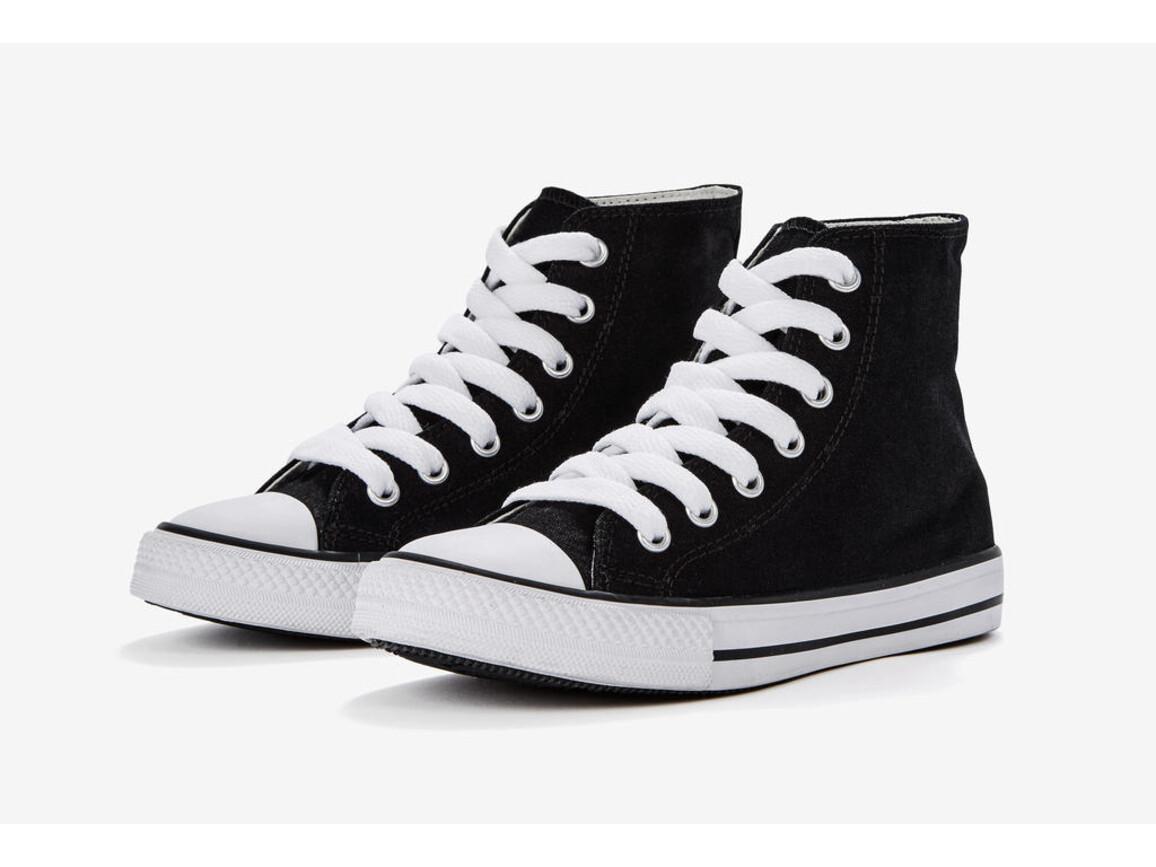 SG Footprints High Top Printable Canvas Shoe/Junior, Black, 34/UK 1.5 bedrucken, Art.-Nr. 901531017