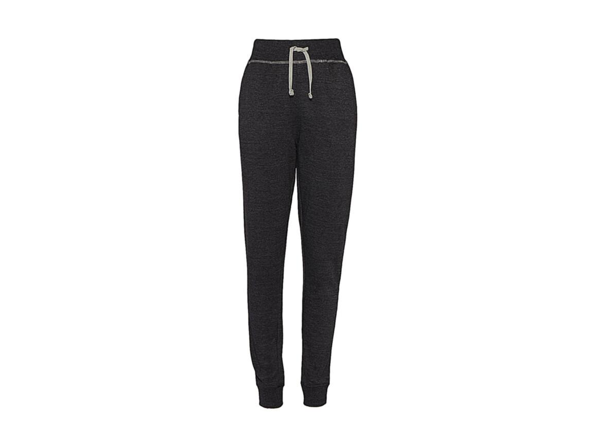 nakedshirt Alexia Women`s Sweatpants, Charcoal/Warm Grey Melange, L bedrucken, Art.-Nr. 901851585