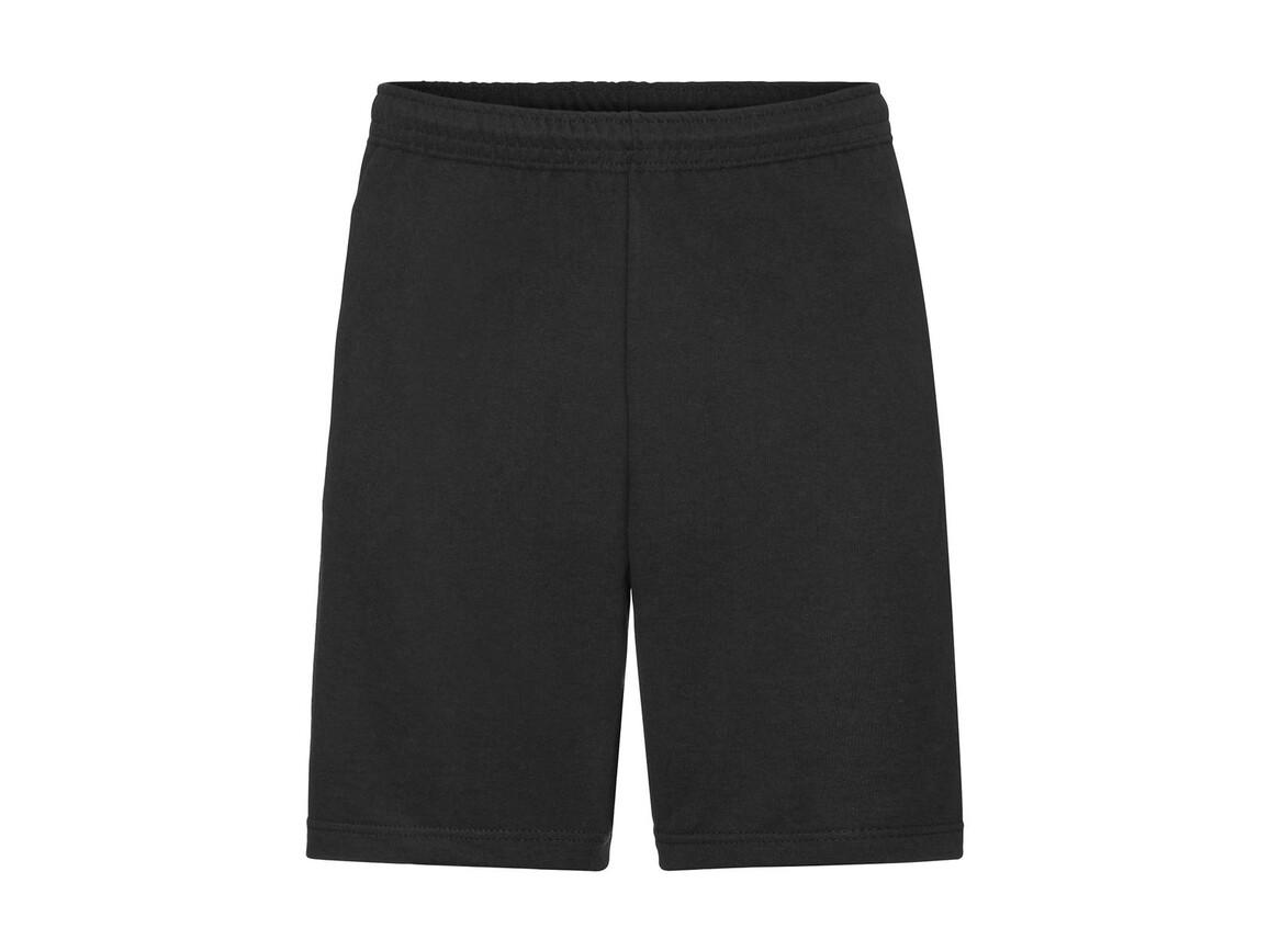 Fruit of the Loom Lightweight Shorts, Black, XL bedrucken, Art.-Nr. 902011016
