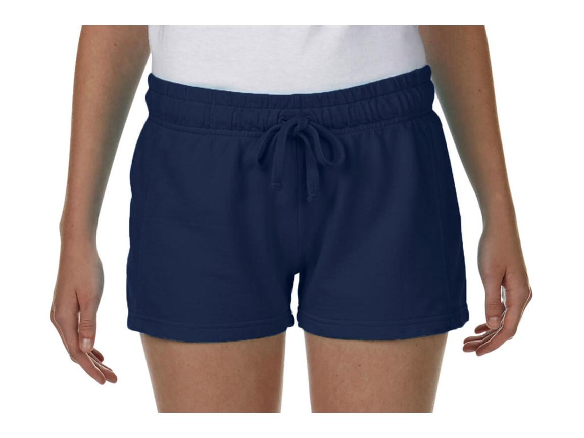Comfort Colors Ladies French Terry Shorts, True Navy, L bedrucken, Art.-Nr. 903032025