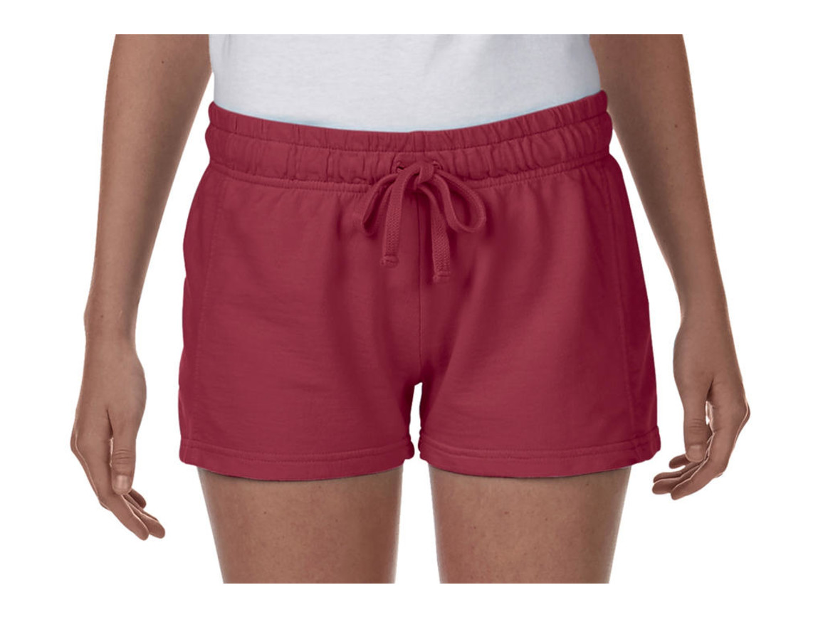 Comfort Colors Ladies French Terry Shorts, Crimson, XL bedrucken, Art.-Nr. 903034416