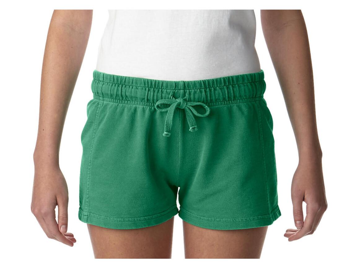 Comfort Colors Ladies French Terry Shorts, Grass, L bedrucken, Art.-Nr. 903035135