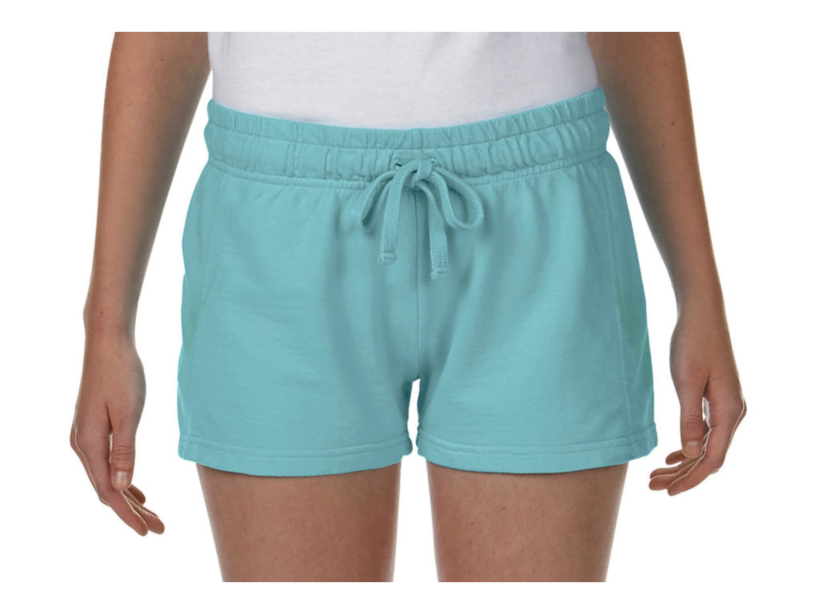 Comfort Colors Ladies French Terry Shorts, Chalky Mint, L bedrucken, Art.-Nr. 903035165