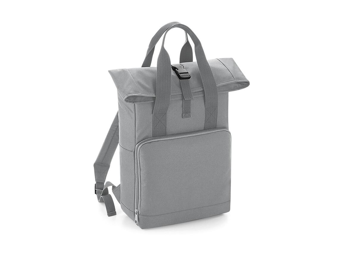 Bag Base Twin Handle Roll-Top Backpack, Light Grey, One Size bedrucken, Art.-Nr. 903291380