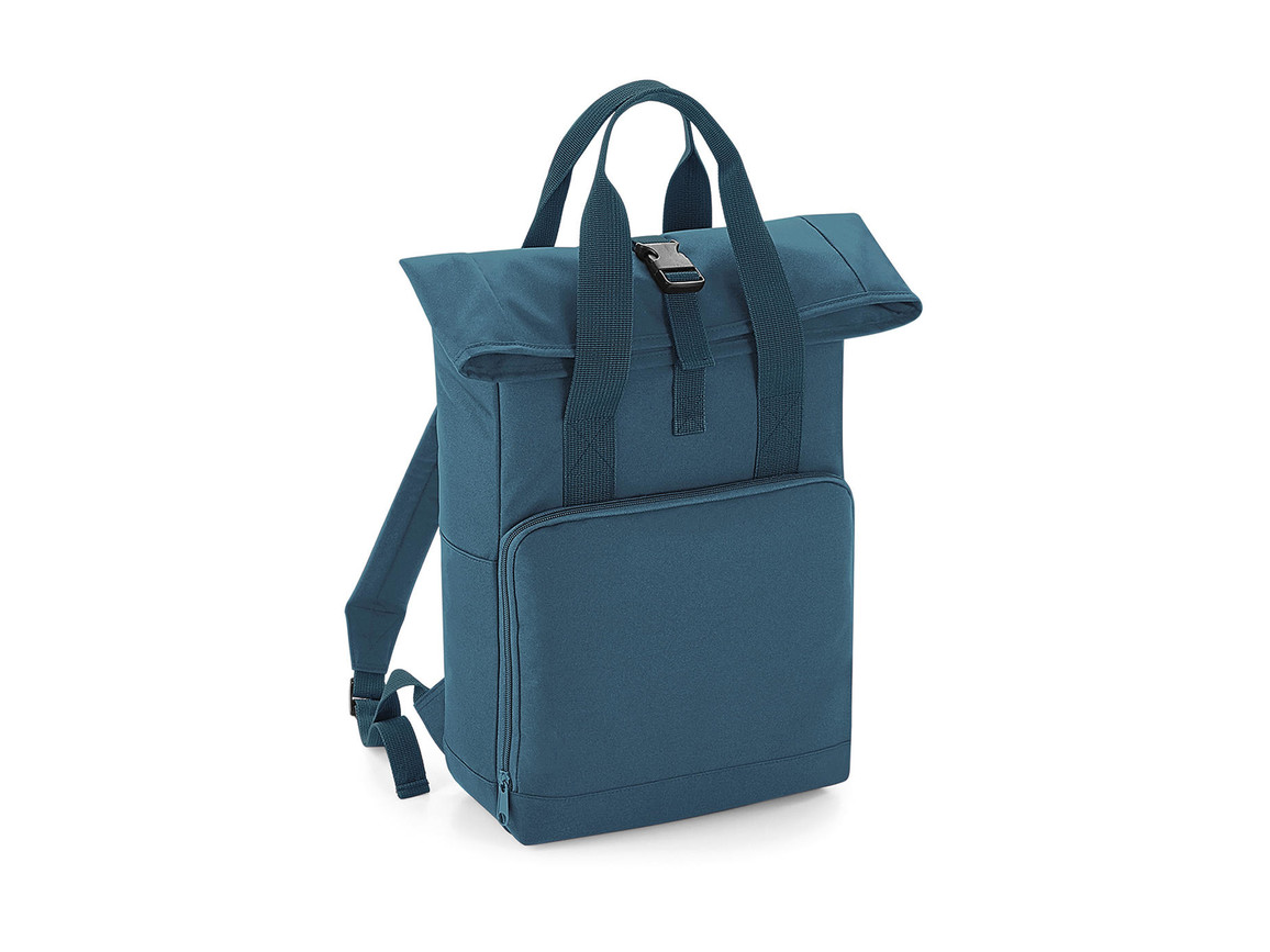 Bag Base Twin Handle Roll-Top Backpack, Airforce Blue, One Size bedrucken, Art.-Nr. 903293020
