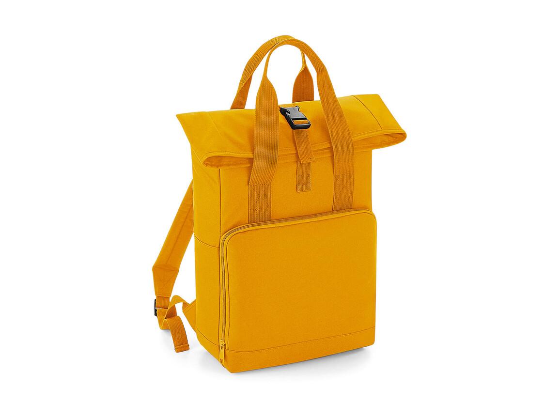 Bag Base Twin Handle Roll-Top Backpack, Mustard, One Size bedrucken, Art.-Nr. 903296450
