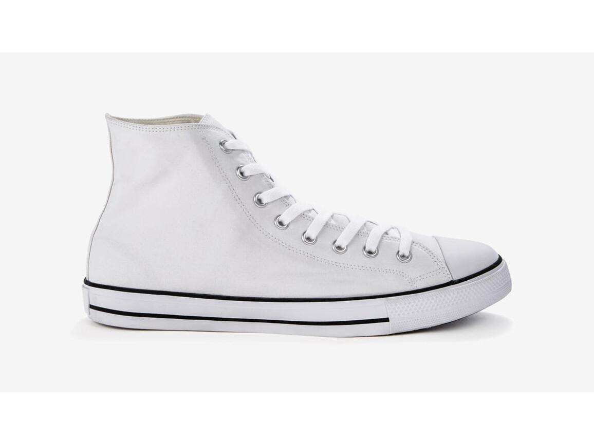 SG Footprints High Top Printable Canvas Shoe/XL, White, 46/UK 11 bedrucken, Art.-Nr. 903530002
