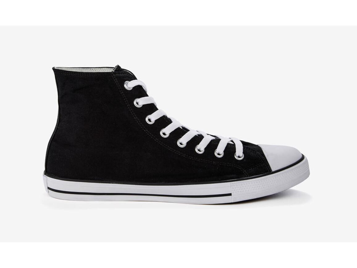 SG Footprints High Top Printable Canvas Shoe/XL, Black, 47/UK 12 bedrucken, Art.-Nr. 903531013