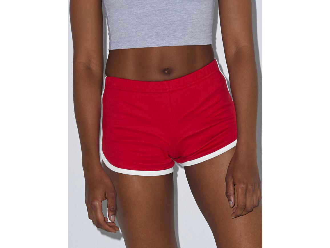American Apparel Women`s Interlock Running Shorts, Black/Black, XS bedrucken, Art.-Nr. 904071772