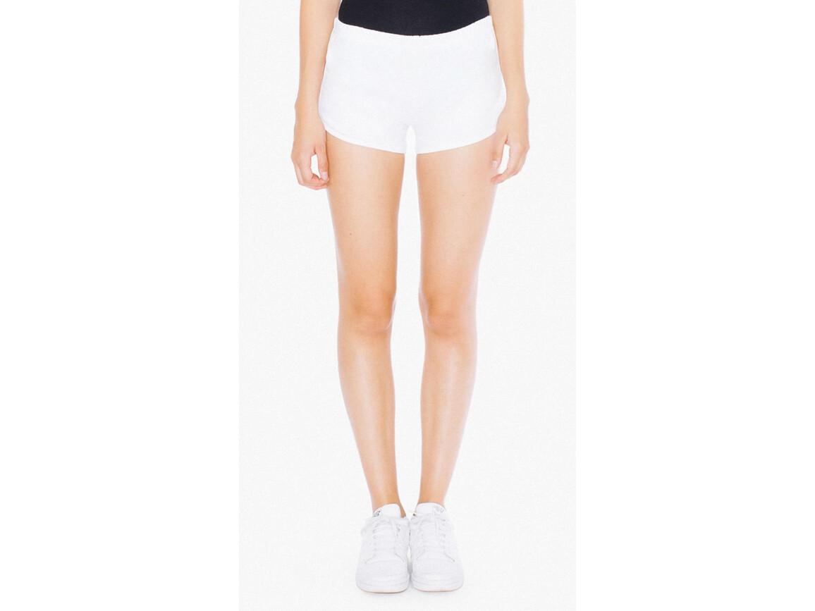 American Apparel Women`s Interlock Running Shorts, White/White, L bedrucken, Art.-Nr. 904070505