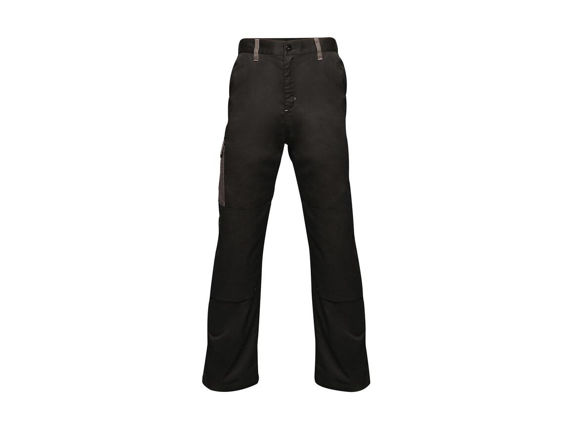 "Regatta Contrast Cargo Trouser, Black/Seal Grey, 32"" bedrucken, Art.-Nr. 904171512"
