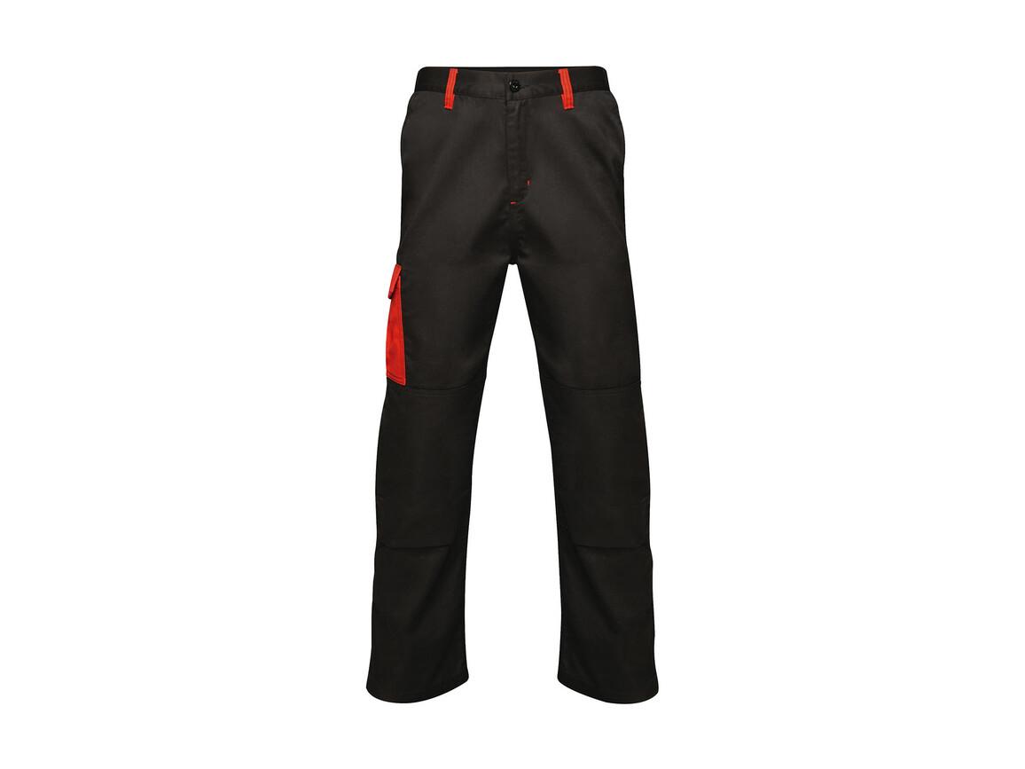 "Regatta Contrast Cargo Trouser, Black/Classic Red, 30"" bedrucken, Art.-Nr. 904171571"