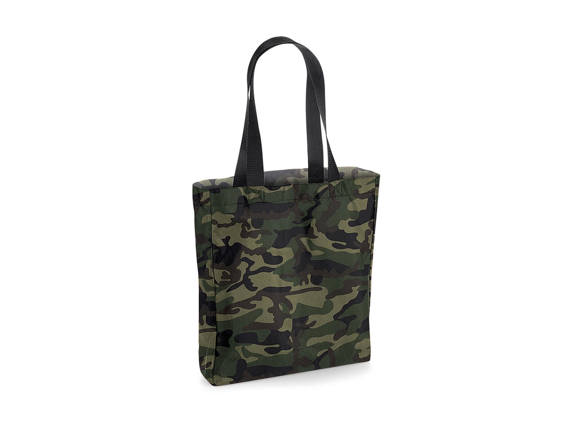 Bag Base Packaway Tote Bag, Jungle Camo/Black, One Size bedrucken, Art.-Nr. 905295870