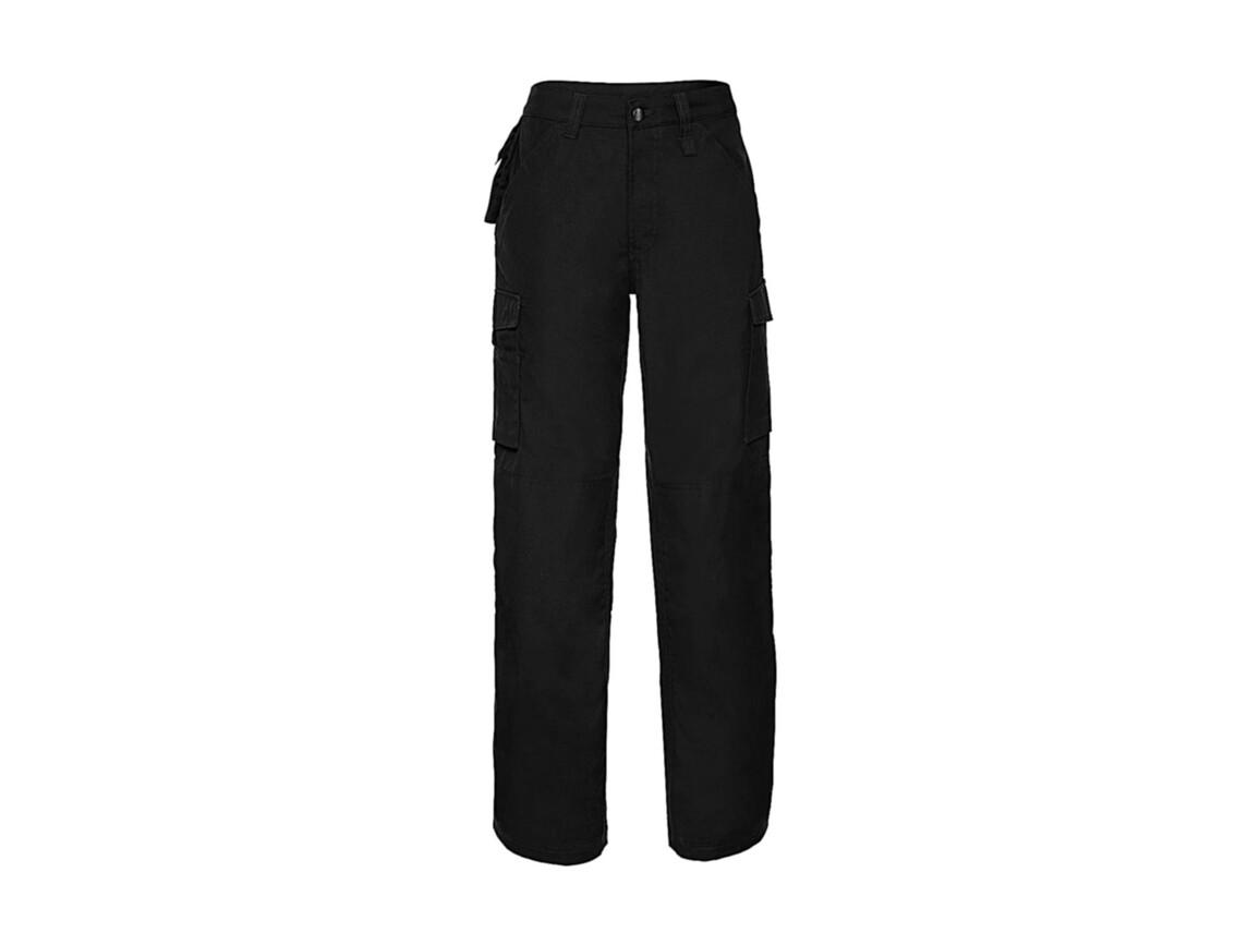 "Russell Europe Hard Wearing Work Trouser Length 34"", Black, 44"" (111cm) bedrucken, Art.-Nr. 980001019"