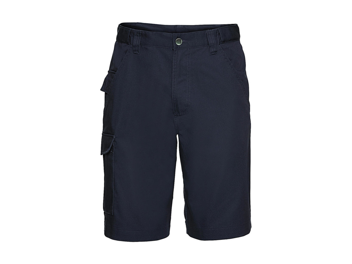"Russell Europe Twill Workwear Shorts, French Navy, 28"" (71cm) bedrucken, Art.-Nr. 991002011"