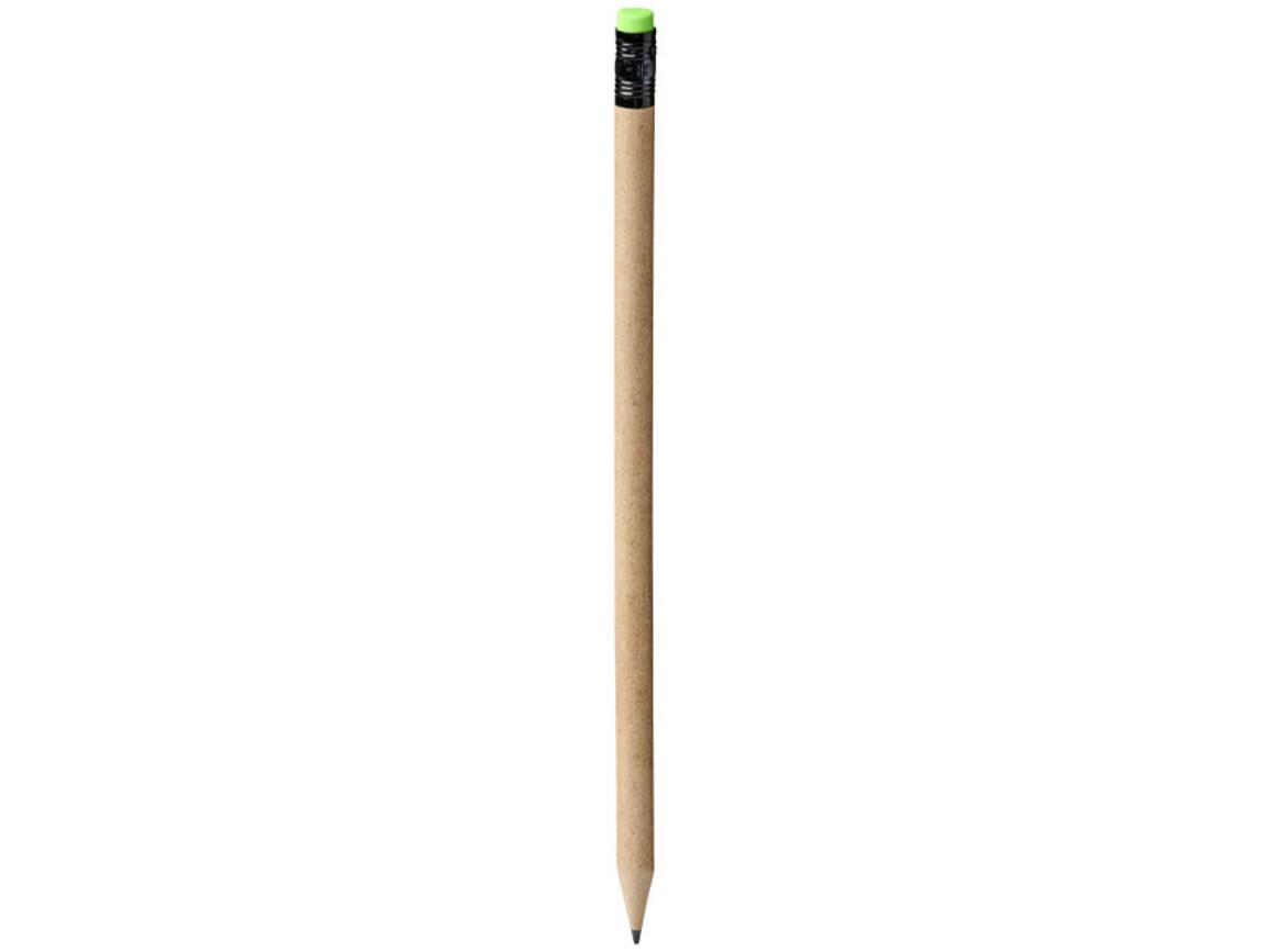 Assa Bleistift aus Recyclingpapier, natur, grün bedrucken, Art.-Nr. 10738100
