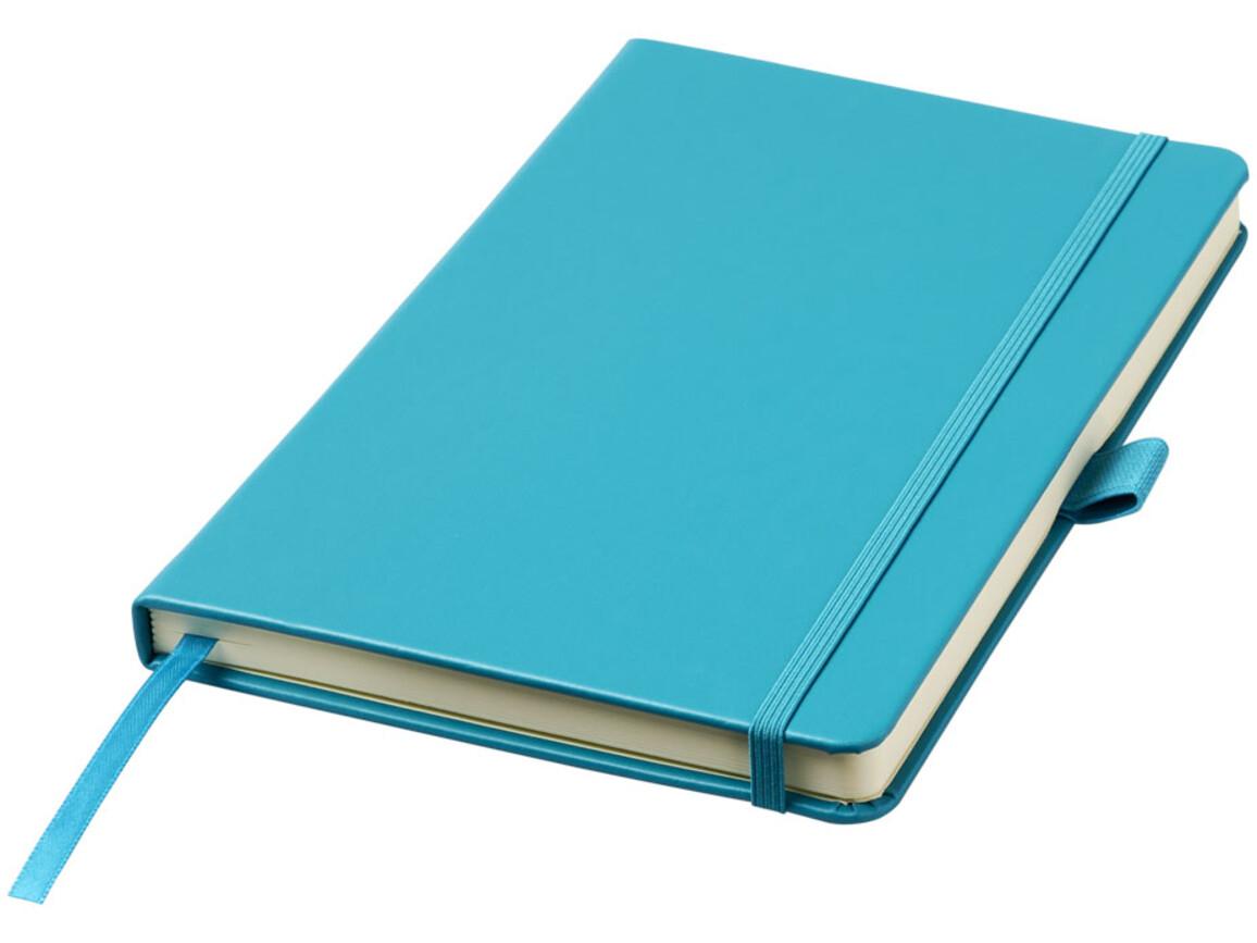 Nova A5 gebundenes Notizbuch, aquablau bedrucken, Art.-Nr. 10739505