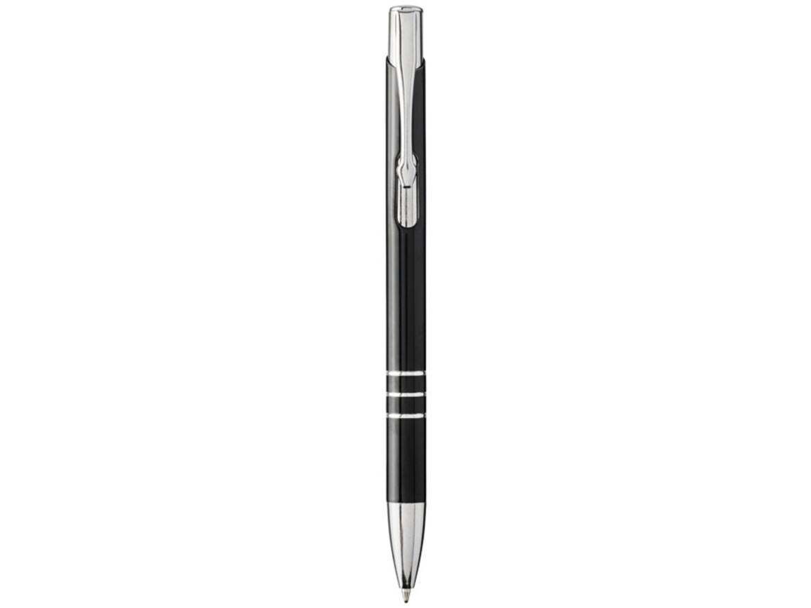 Moneta Laser farbiger Druckkugelschreiber aus Aluminium, schwarz, silber bedrucken, Art.-Nr. 10741800