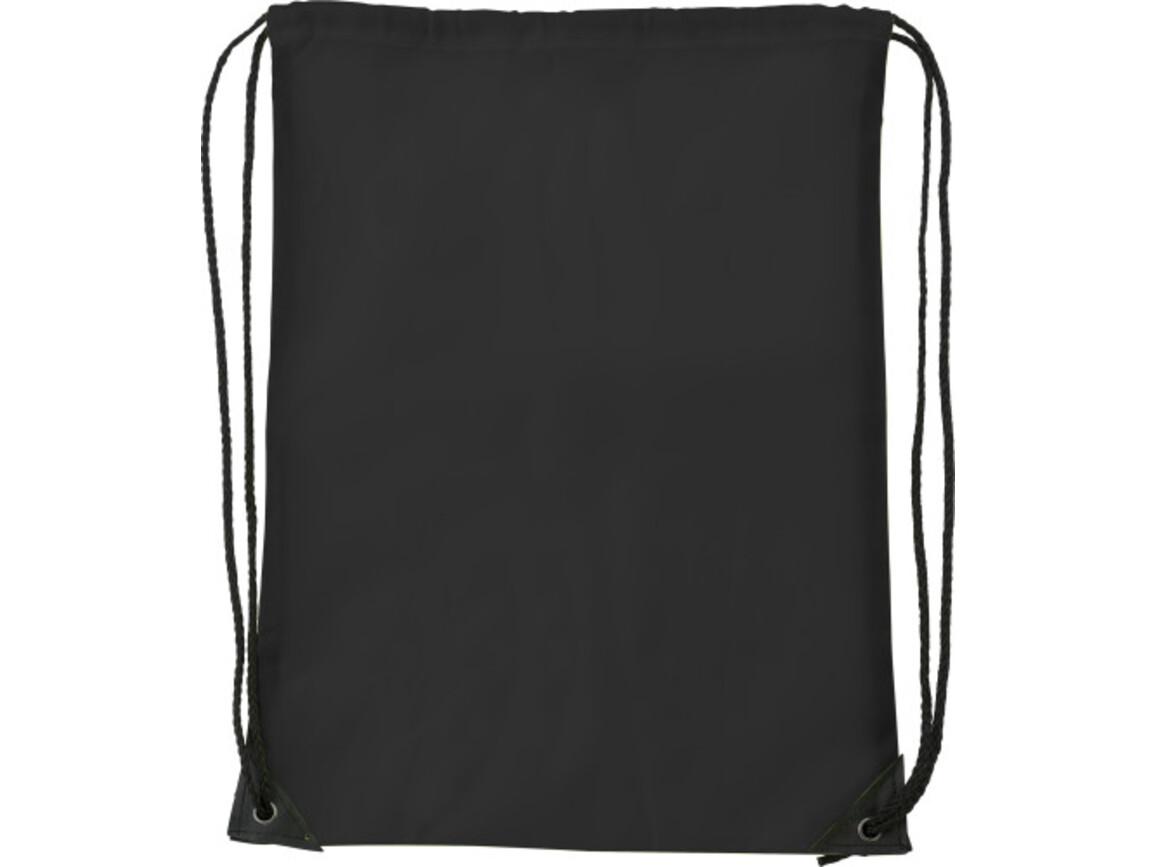 Turnbeutel 'Basic' aus Polyester – Schwarz bedrucken, Art.-Nr. 001999999_7097