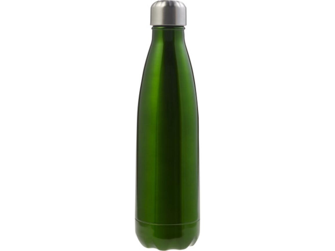 Doppelwandige Trinkflasche 'Lombok' aus Edelstahl – Grün bedrucken, Art.-Nr. 004999999_8223