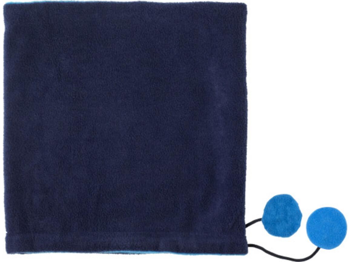 2-in-1 Schal 'Glasgow' aus Fleece – Blau bedrucken, Art.-Nr. 005999999_8499