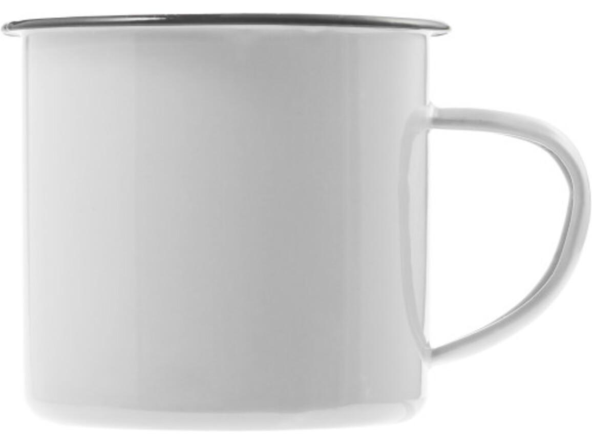 Emaille-Becher 'Wild' aus Metall – Weiß bedrucken, Art.-Nr. 002999999_8537
