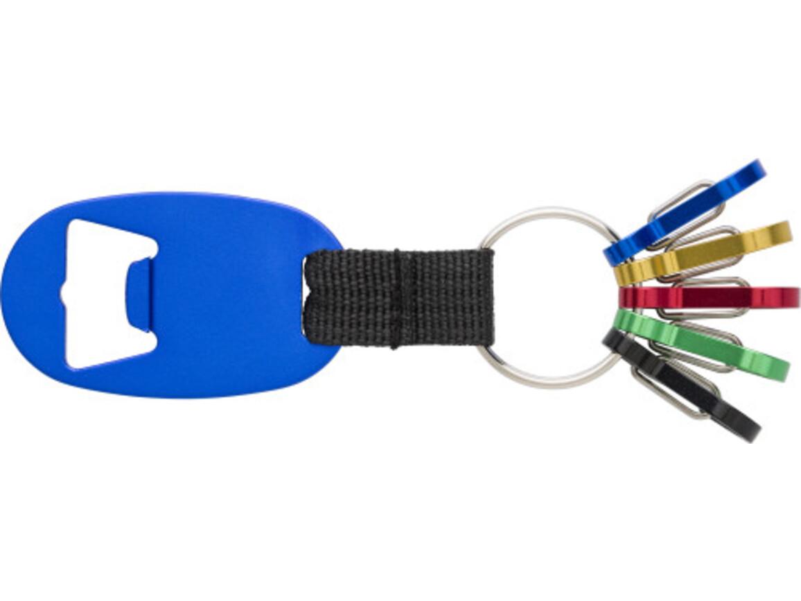 2-in-1 Schlüsselanhänger 'Usedom' aus Aluminium – Blau bedrucken, Art.-Nr. 005999999_8586