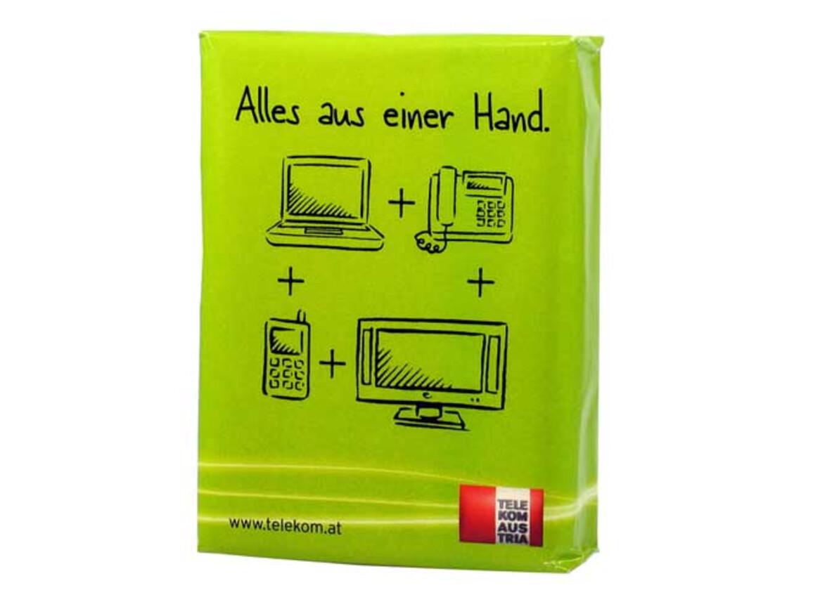 Taschentücher Mini 5er-Pack mit Papierverpackung bedrucken, Art.-Nr. 281187