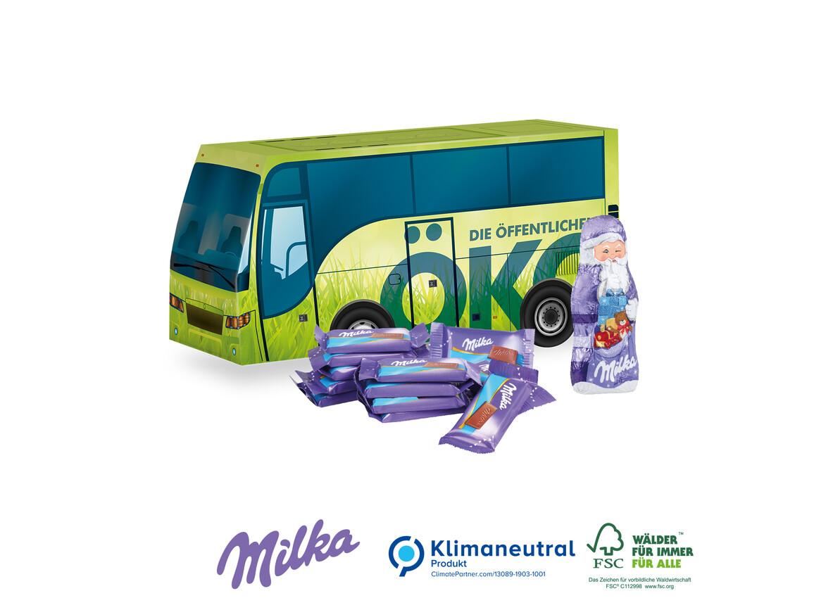 "Präsent ""Weihnachts-Bus"", Klimaneutral, FSC®-zertifiziert bedrucken, Art.-Nr. 95419"