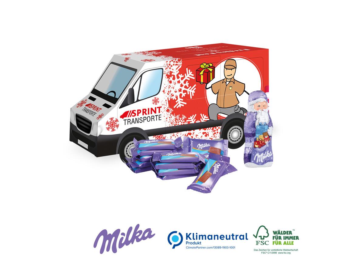 "Präsent ""Weihnachts-Transporter"", Klimaneutral, FSC®-zertifiziert bedrucken, Art.-Nr. 95422"