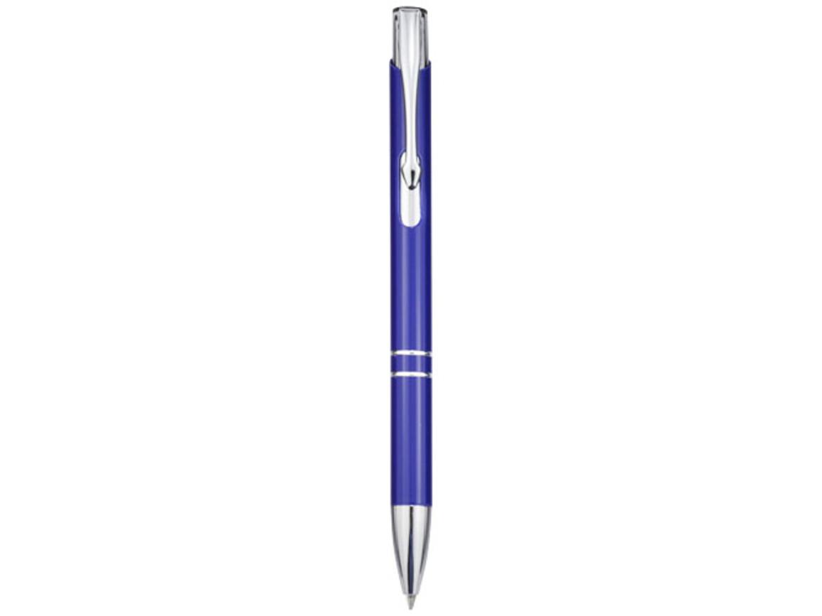 Moneta Druckkugelschreiber aus Aluminium, royalblau bedrucken, Art.-Nr. 10744004