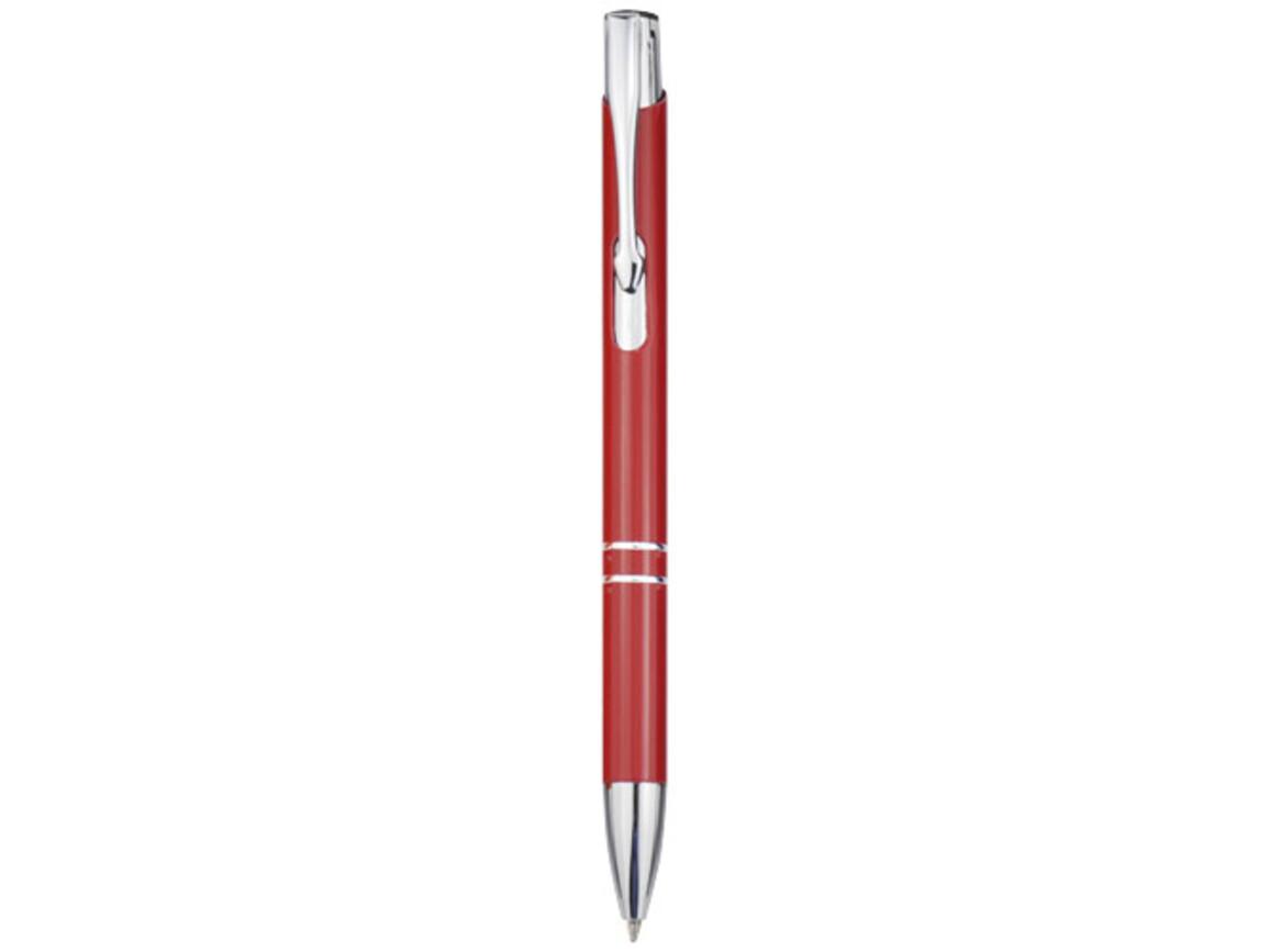 Moneta Druckkugelschreiber aus Aluminium, rot bedrucken, Art.-Nr. 10744005